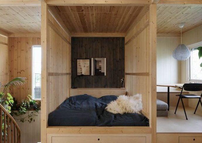 happy small living espace chambre repas minimaliste ambiance japon corée asie bois essentiel simple et chaleureux