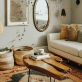 petit logement salon boheme couleur neutre happy small living conseils et exemple deco appartement