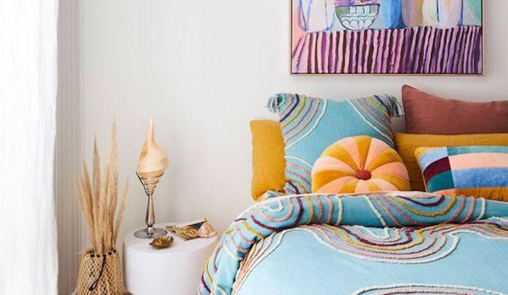 deco chambre linge de lit couleur motif blog inspiration decoration interieure