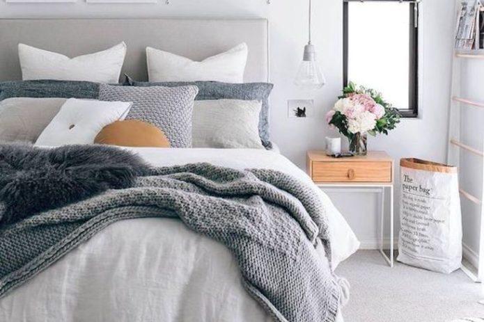 drap cosy hiver exemple moderne uni simple et chaud