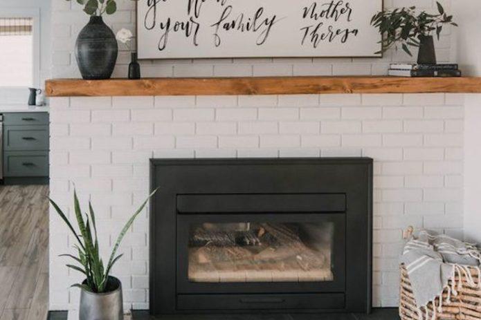 idee decoration cheminee automne hiver cheminée plantes salle de bain salon entrée hamac
