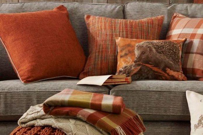 ou trouver coussin couleur automne nature neutre orange brun marron jaune vert